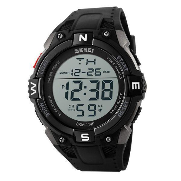 Relógio Masculino Skmei Digital 1140 Preto e Prata