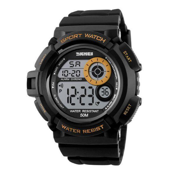 Relógio Masculino Skmei Digital 1222 Dourado