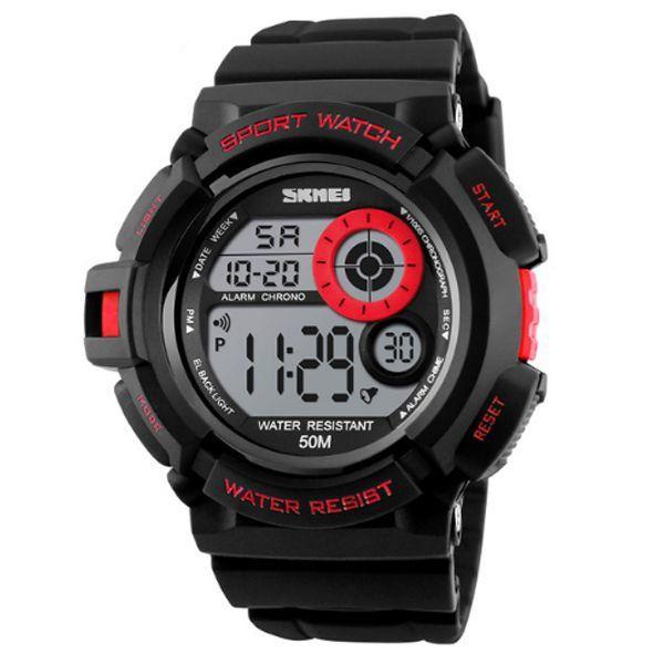 Relógio Masculino Skmei Digital 1222 Vermelho