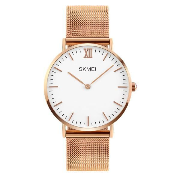 Relógio Masculino Skmei Analógico 1181 - Dourado e Branco