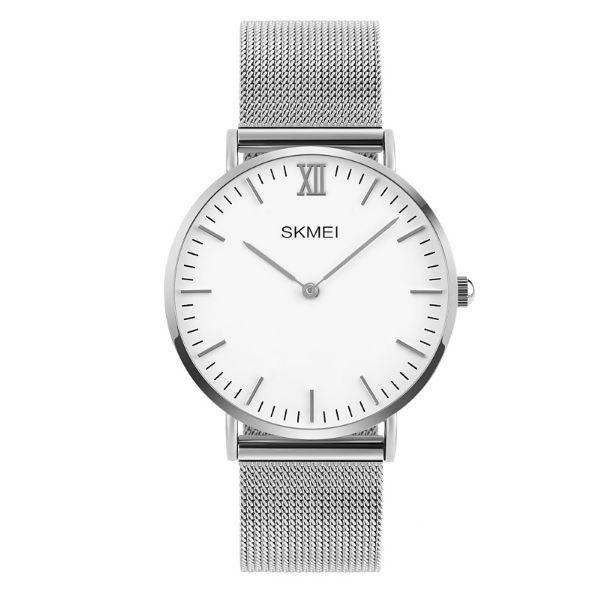 Relógio Masculino Skmei Analógico 1181 - Prata e Branco