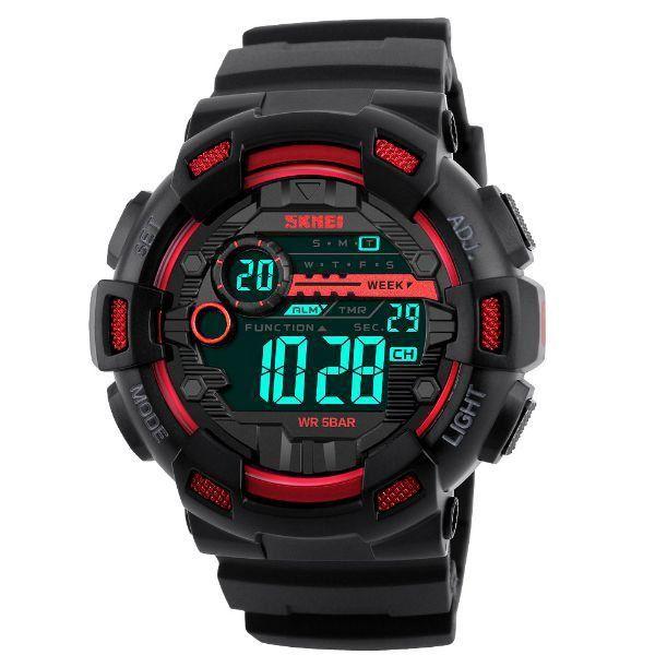 Relógio Masculino Skmei Digital 1243 Vermelho