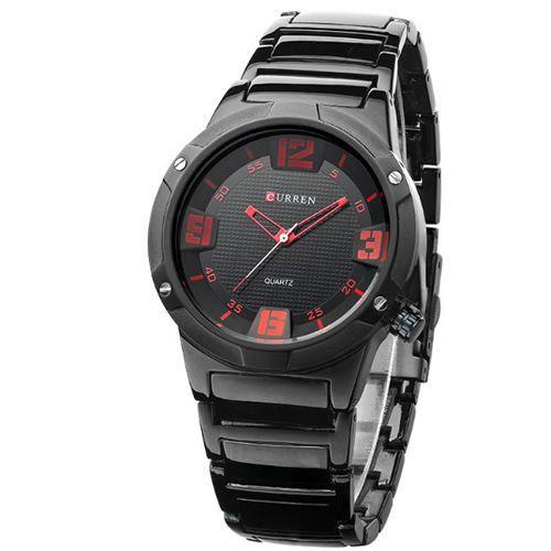 Relógio Curren Analógico 8111 Preto e Vermelho