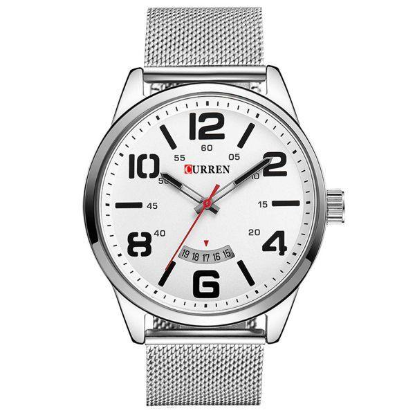 Relógio Curren Analógico 8236 Branco