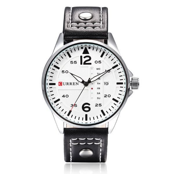 Relógio Curren Analógico 8224 Branco