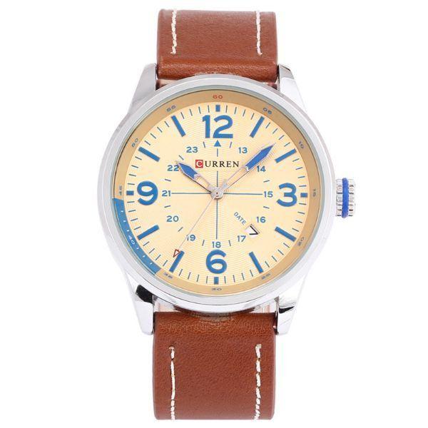 Relógio Curren Analógico 8215 Marrom