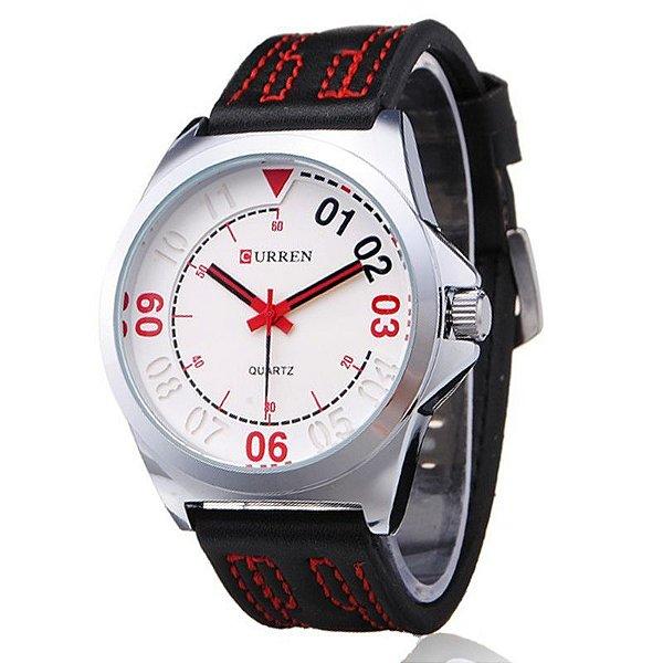 Relógio Curren Analógico 8153 Branco