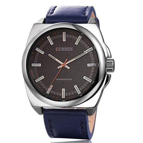Relógio Curren Analógico 8168 Azul e Prata