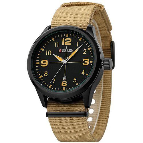 Relógio Curren Analógico 8195 Bege e Preto