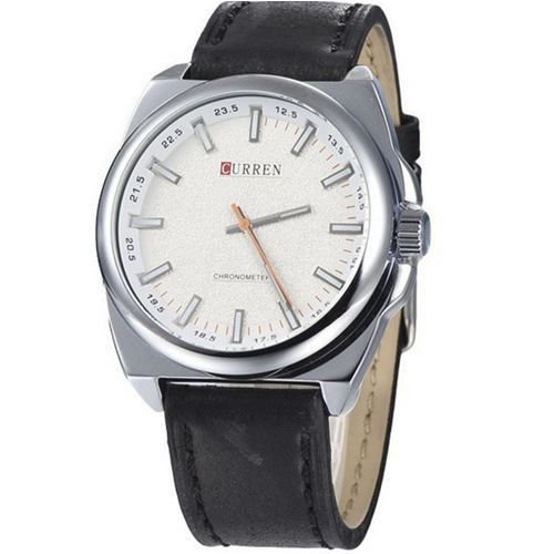 Relógio Curren Analógico 8168 Preto e Prata