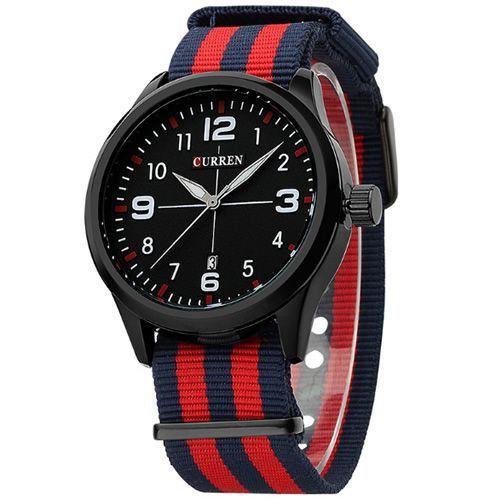 Relógio Curren Analógico 8195 Azul e Vermelho