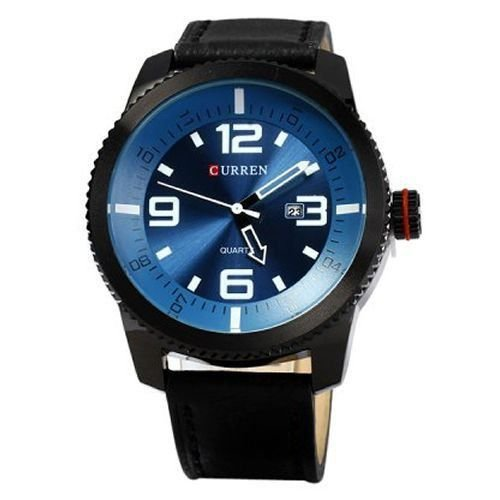 Relógio Curren Analógico 8180 Preto e Azul