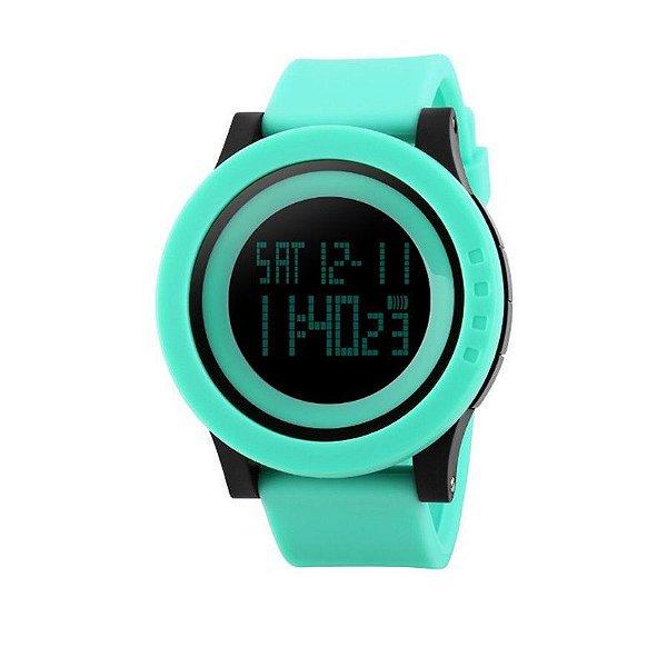 Relógio Feminino Skmei Digital 1193 - Verde Água e Preto