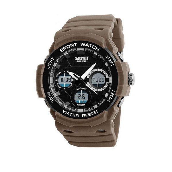 Relógio Masculino Skmei AnaDigi 1247 - Marrom