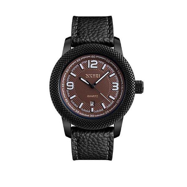 Relógio Masculino Skmei Analógico 9138 - Preto e Marrom