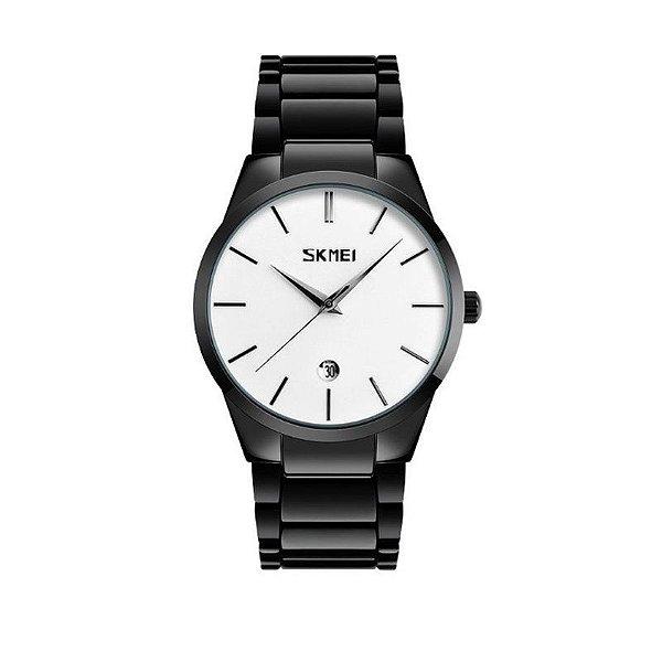 Relógio Masculino Skmei Analógico 9140 Branco