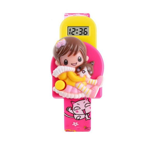 Relógio Infantil Menina Skmei Digital 1240 - Rosa