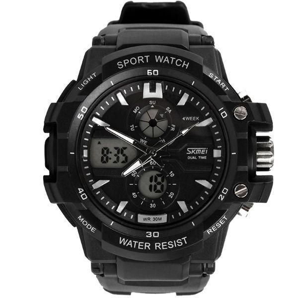 Relógio Masculino Skmei Anadigi 0990 Branco