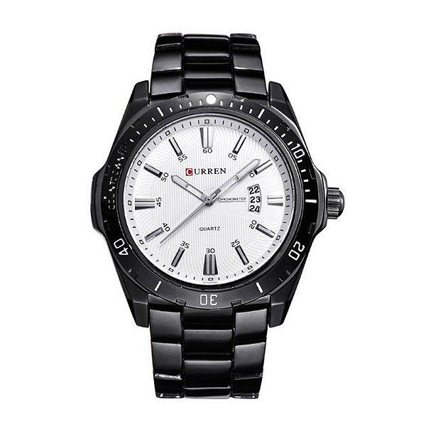 Relógio Masculino Curren Analógico 8110 Preto e Branco