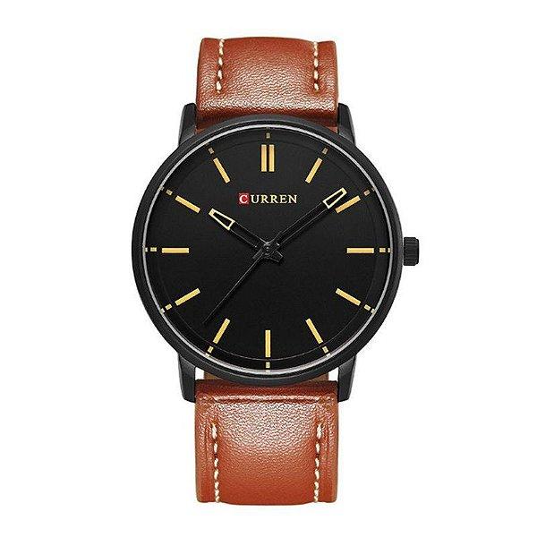 Relógio Masculino Curren Analógico 8233 - Marrom e Preto