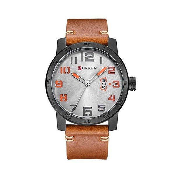 Relógio Masculino Curren Analógico 8254 Preto e Cinza