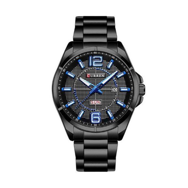 fe278200206 Relógio Masculino Curren Analógico 8271 Preto e Azul - ShopDesconto ...