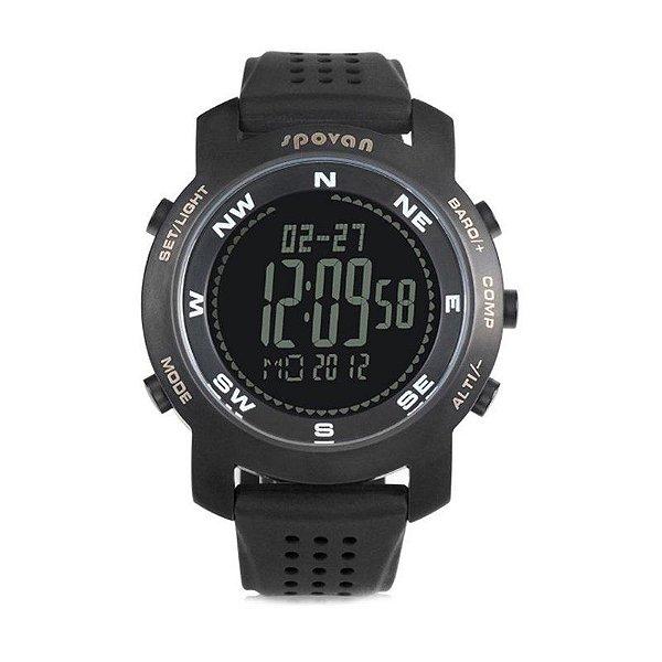 Relógio Masculino Spovan Digital Bravo Preto