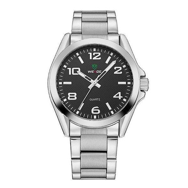 Relógio Masculino Weide Analógico WH801G Prata e Preto