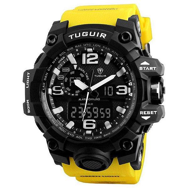 Relógio Masculino Tuguir AnaDigi TG1155 - Amarelo e Preto
