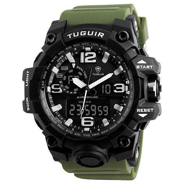 Relógio Masculino Tuguir AnaDigi TG1155 - Verde e Preto
