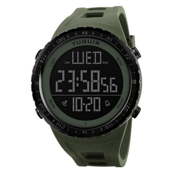 Relógio Masculino Tuguir Digital TG1246 - Verde e Preto