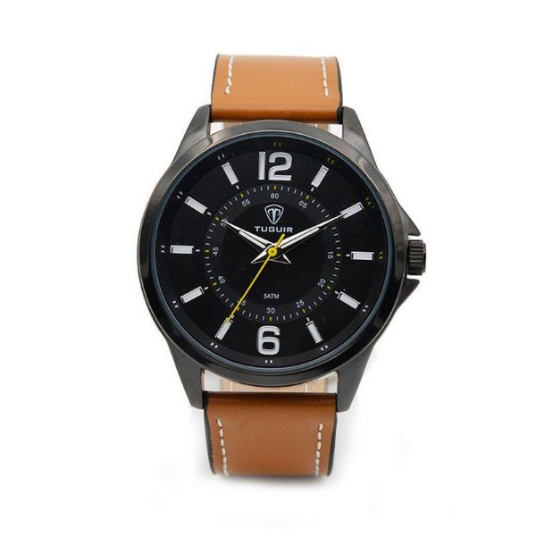 Relógio Masculino Tuguir Analógico 5043 Preto Bege
