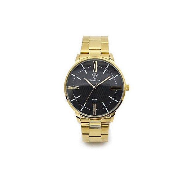 Relógio Masculino Tuguir Analógico 5049 Dourado e Preto