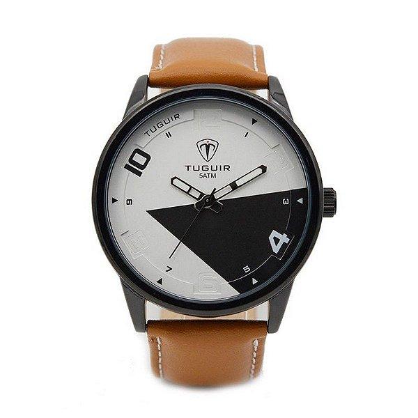 Relógio Masculino Tuguir Analógico 5050 Marrom
