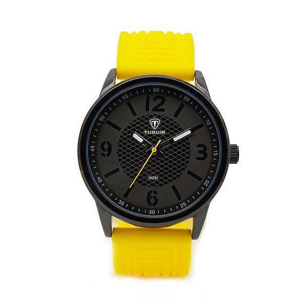 Relógio Masculino Tuguir Analógico 5053 Amarelo