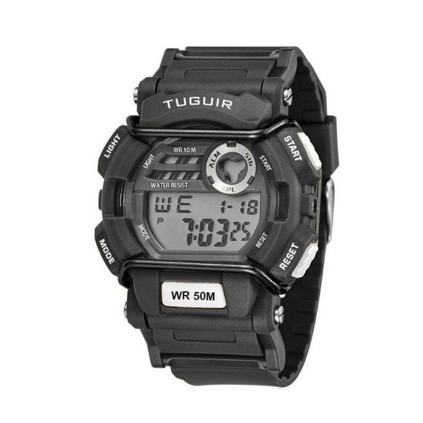 Relógio Masculino Tuguir Digital TG6002 - Preto