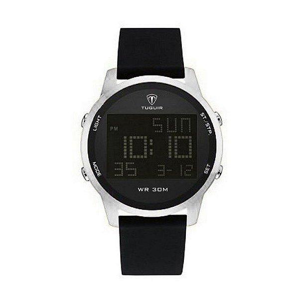 c4e9e82ea07 Relógio Masculino Tuguir Digital TG7003 Prata - ShopDesconto - Aqui ...