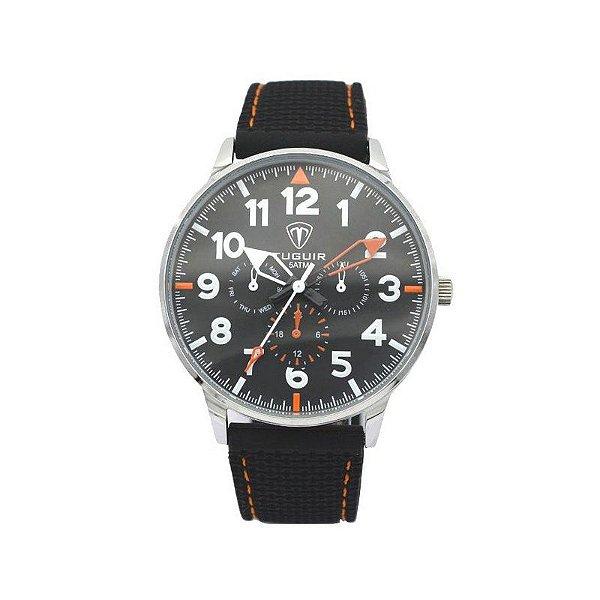 Relógio Masculino Tuguir Analógico 5022 Preto e Laranja