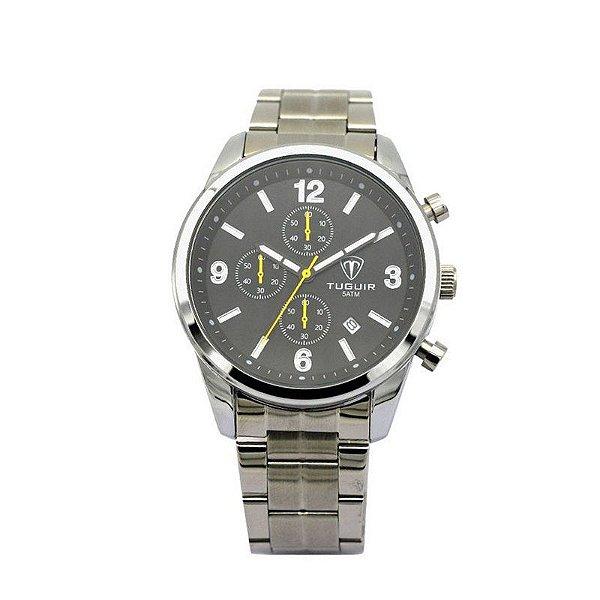 Relógio Masculino Tuguir Analógico 5029 - Prata e Preto