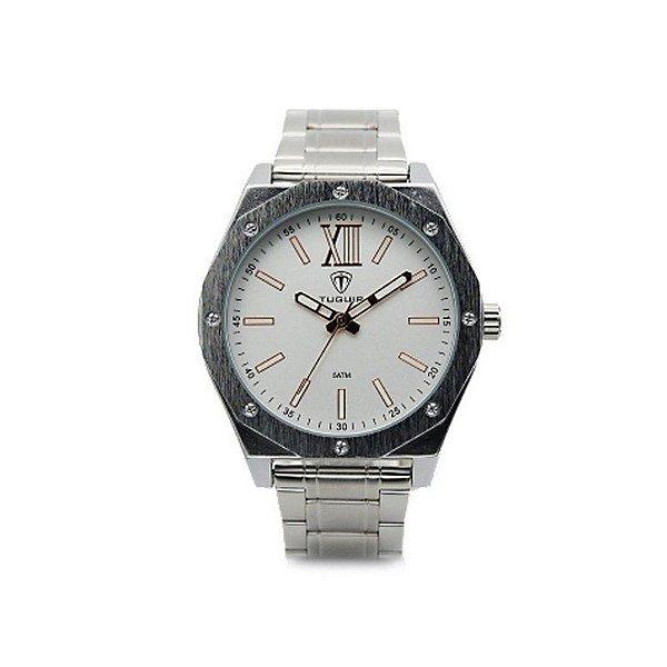 Relógio Masculino Tuguir Analógico 5032 Prata e Branco