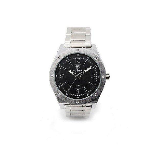 c510caba5c Relógio Masculino Tuguir Analógico 5033 Prata e Preto - ShopDesconto ...