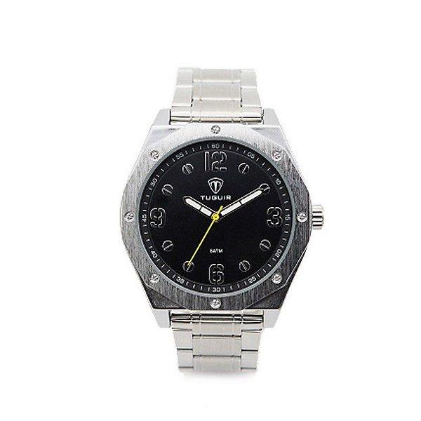 Relógio Masculino Tuguir Analógico 5034 - Prata e Preto