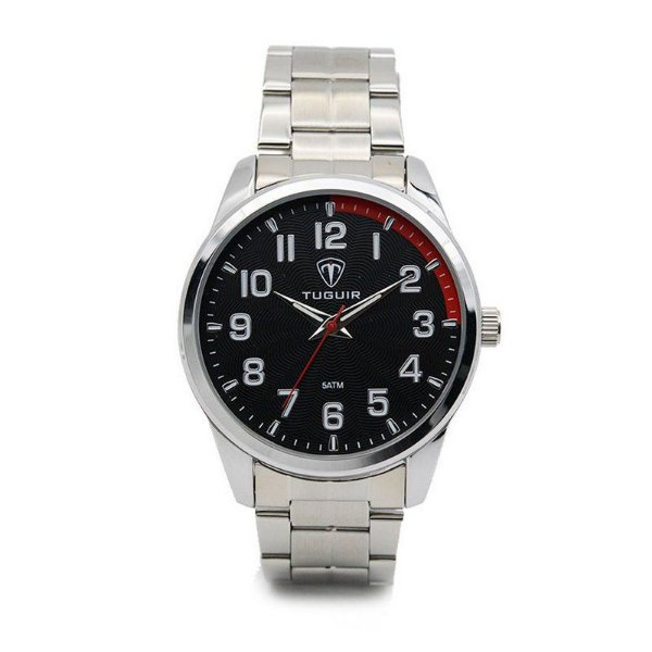 Relógio Masculino Tuguir Analógico 5035 Prata e Preto