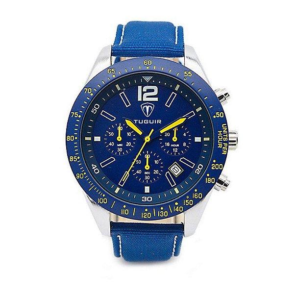 Relógio Masculino Tuguir Analógico 5036 Azul