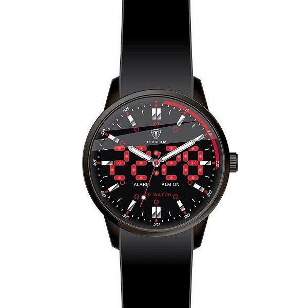 Relógio Masculino Tuguir Anadigi TG2118 Preto