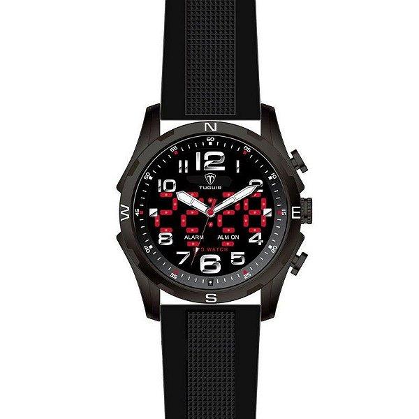 Relógio Masculino Tuguir Anadigi TG2137 Preto