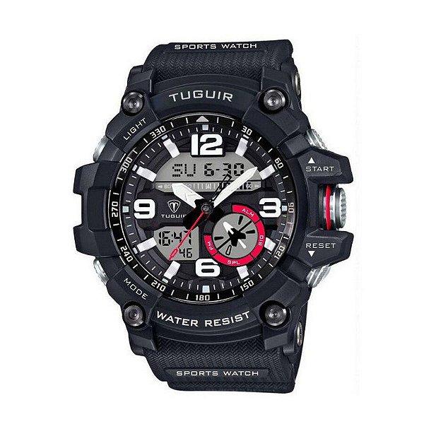 Relógio Masculino Tuguir Anadigi TG6009 Preto