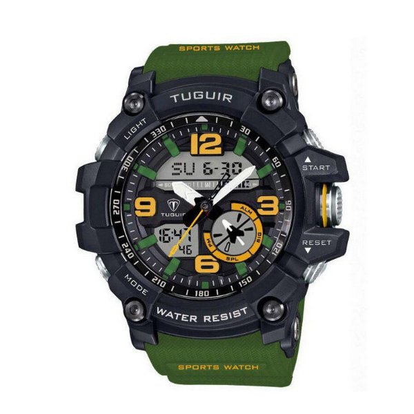 Relógio Masculino Tuguir Anadigi TG6009 Verde
