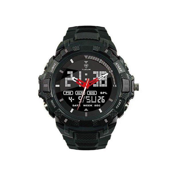 Relógio Masculino Tuguir Anadigi TG6019 Preto