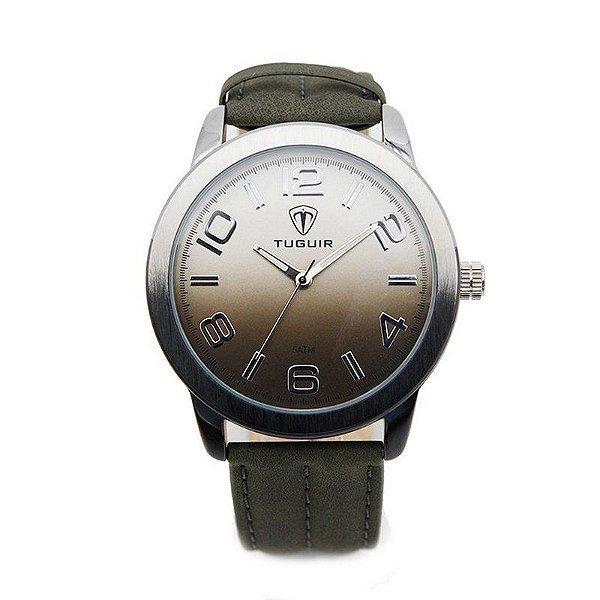 Relógio Masculino Tuguir Analógico 5001 Preto e Prata